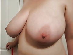 36 G saggy tits bbw MILF Lateshay big yellow bra strip
