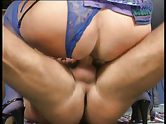 Bea Dumas Ass Fucked in Hot Blue Lace Knickers..