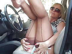 BEAUTIFUL Lady Lingerie Legs & Feet Tease HD