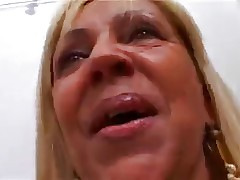 blonde old whore