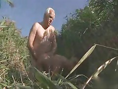 Old Man And  Babe Beach Sex 2 Wear-Tweed