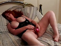 Red headed granny shows how to suck dick.