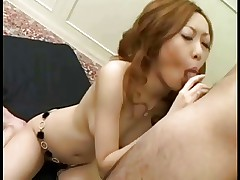 Sexy pretty Japanese girl's hot cunt fucked & creampied