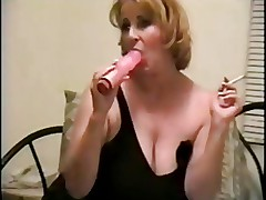 Hot Mature Solo Smoking and Playing