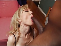 Milf Nina ass fucked by black dick