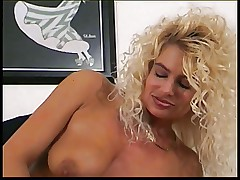 Sexy blonde with a nice plump ass gets fucked in her hairy pussy