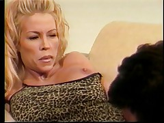 Big tits blonde banged on the couch