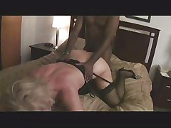 Hot Curvy Blonde Granny Bangs BBC