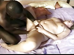 Black stallion tenderly fists mature BBW