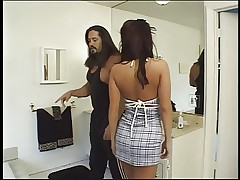Busty brunette gets in trouble with her boyfriend