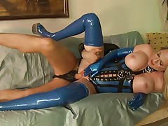 Latex Chick Dick Riding Makes It Sore