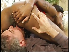 Black chick with big tits gets fucked