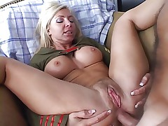 Cute blonde with big titts take cock in the ass