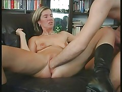 Hot mature couple fist fucking
